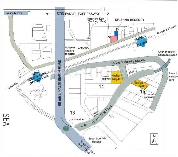 V R Mittal Builder Keshav Kunj 2 Location Plan
