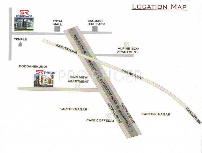 Aaradhana Buildcon Emprises SR Brindavana Location Plan