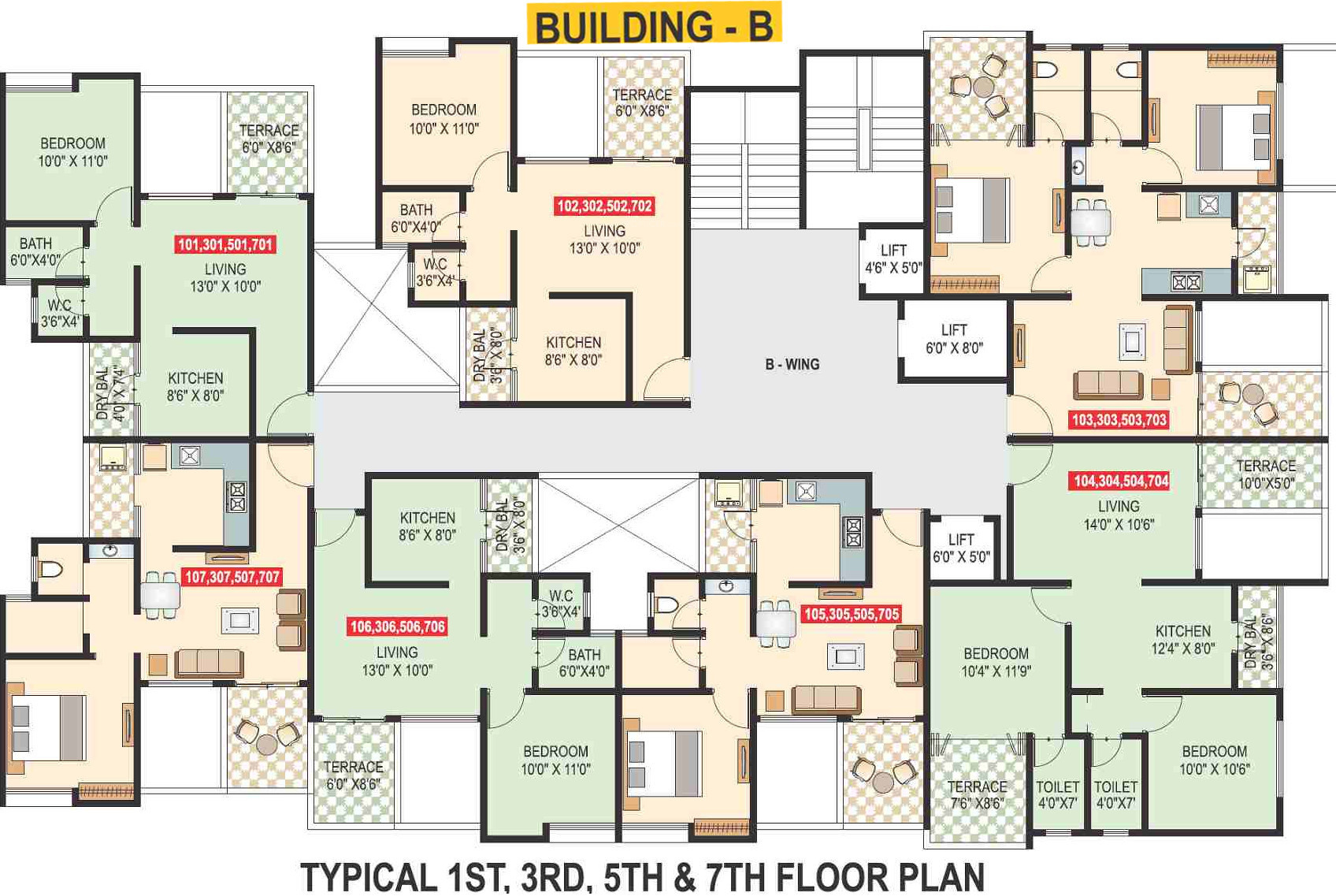 640 sq ft 1 bhk 1t apartment for sale in vaishnavi for 1 bhk flat floor plan