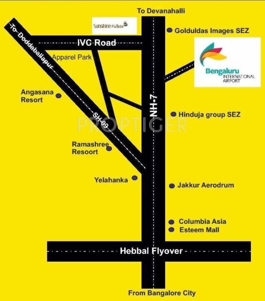 Images for Location Plan of Unnathi Sunshine Palette