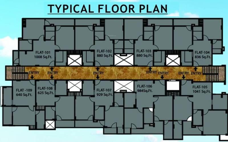 Images for Cluster Plan of Jai Shree Balaji Infra Sukhdham Residency
