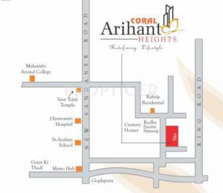 Images for Location Plan of Coral Arihant Heights
