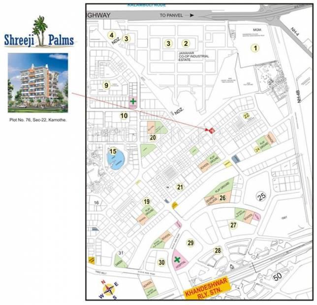 Images for Location Plan of Shreeji Group Builders And Developers Shreeji Palms