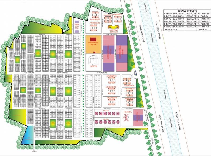Layout Plan Image of MJ Infra Housing Sharda Estate for sale @Rs 555 ...