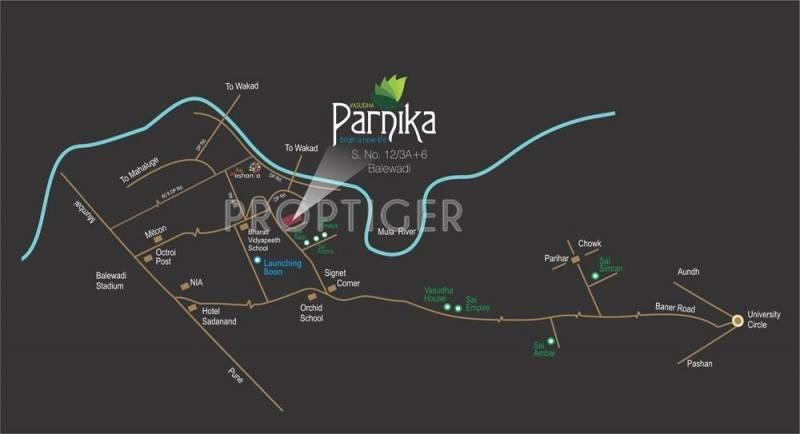parnika Images for Location Plan of Vasudha Parnika