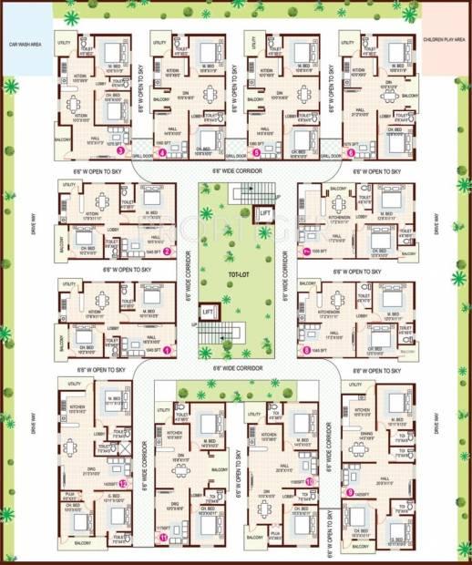 Images for Cluster Plan of AV Hare Ram Residency