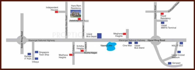 A V Constructions Hare Ram Residency Location Plan