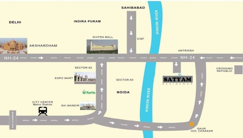 Images for Location Plan of Aasra Satyam Apartments