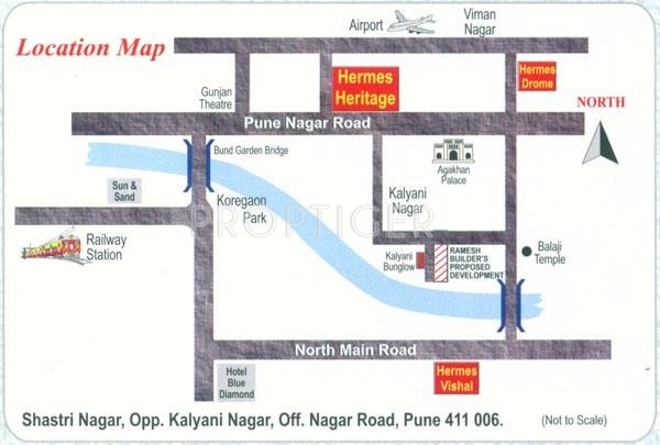 Images for Location Plan of Ramesh Builders Hermes Heritage Phase 1
