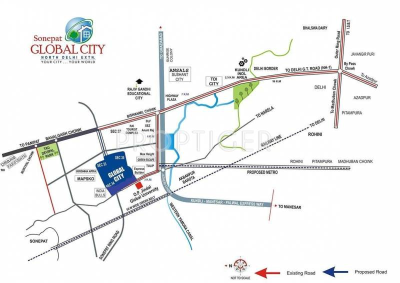 Images for Location Plan of Jindal Global City Plots
