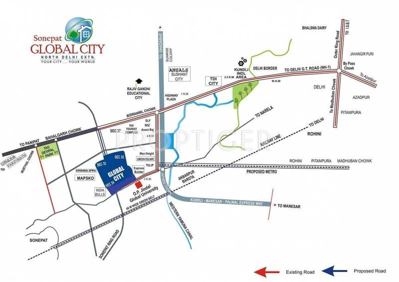 Images for Location Plan of Jindal Contemporary Homes