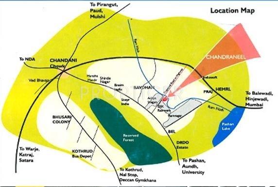 Giridhar Housing Chandraneel Location Plan