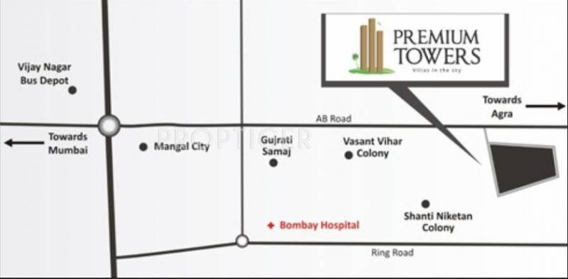 premium-towers Images for Location Plan of Mirchandani Premium Towers