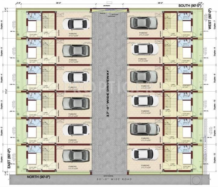 Images for Site Plan of MGP Elite Villas