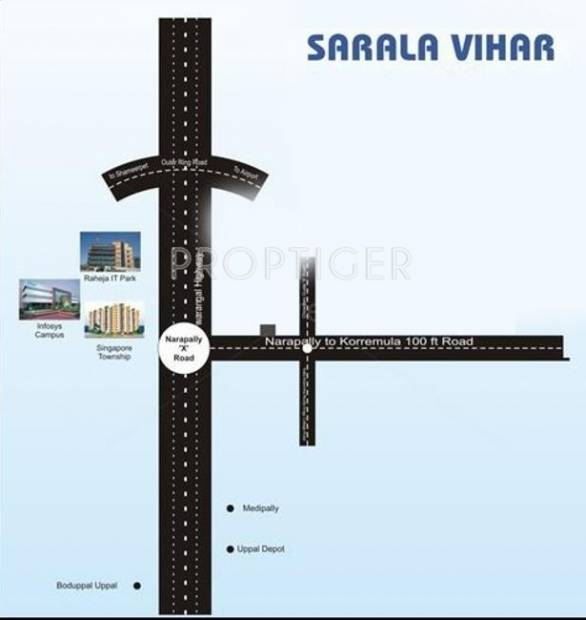 sarala-vihar Images for Location Plan of  Sarala Vihar