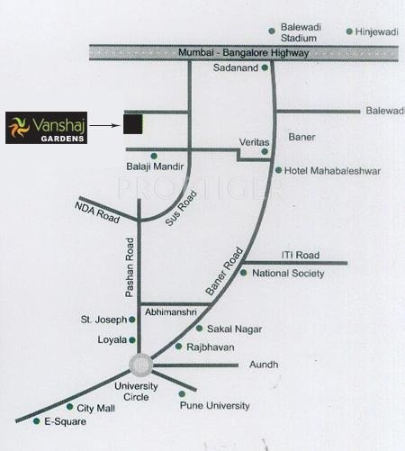 Vanshaj Rane Group Gardens Location Plan
