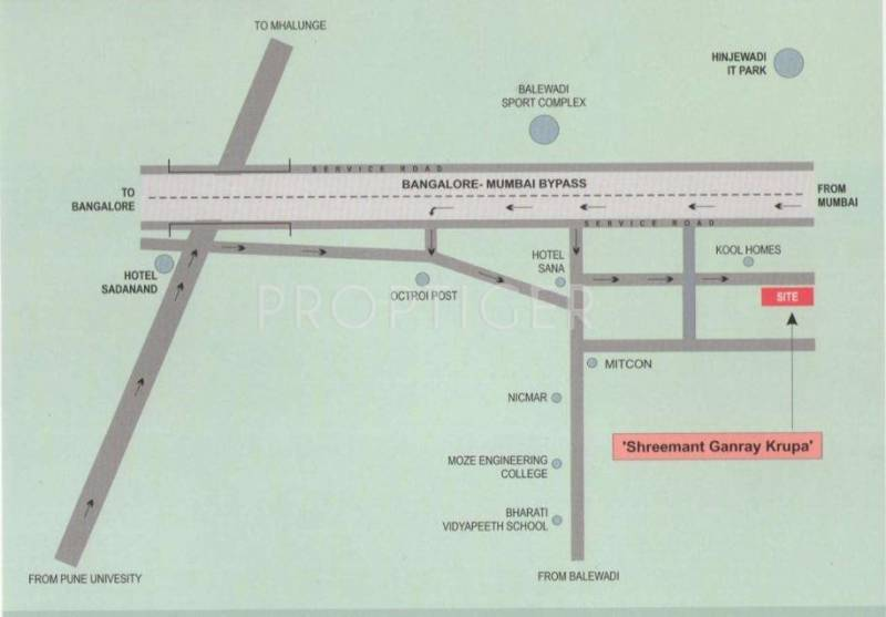 Images for Location Plan of Ganraj Shreemant Ganray Krupa