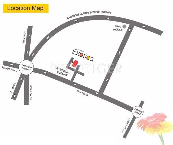 exotica Location Plan
