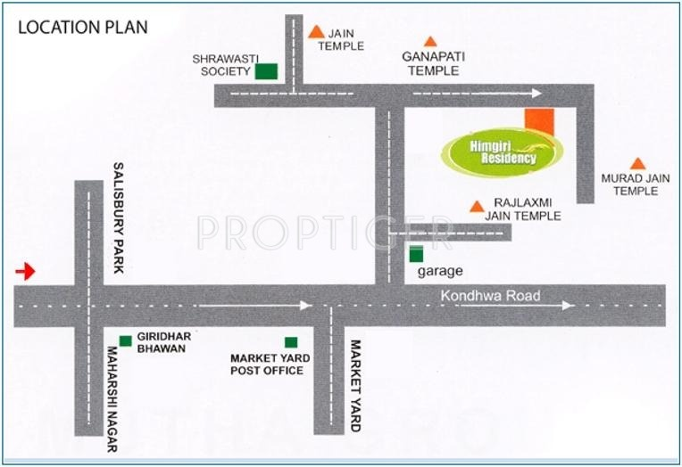 Mutha Group Himgiri Residency Location Plan