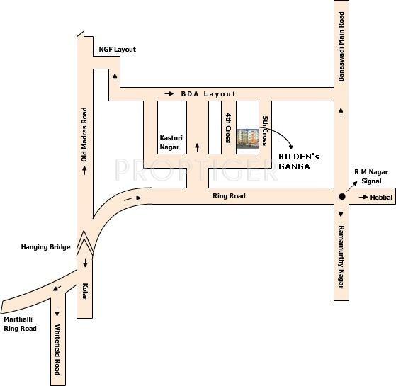 Bilden Properties Ganga Location Plan