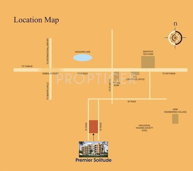 Premier Builders Solitude Location Plan
