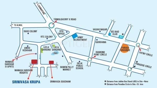 Vishal Projects Vishals Srinivasakrupa Location Plan