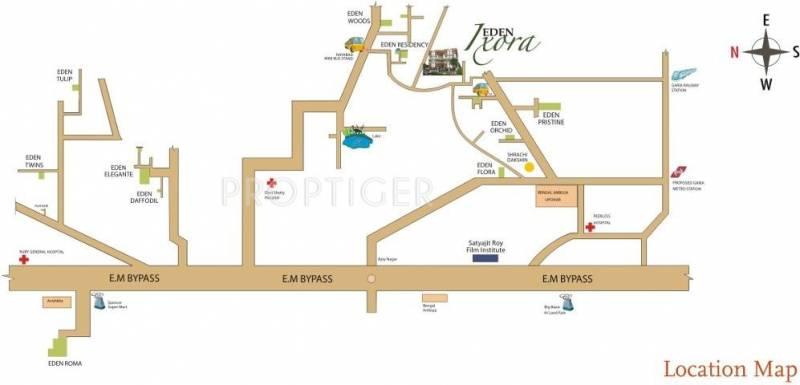 ixora Images for Location Plan of Eden Ixora