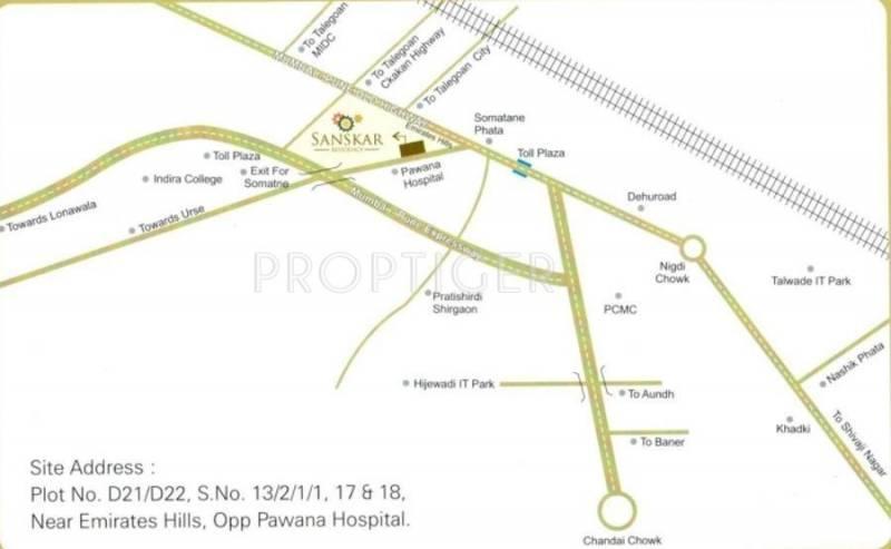 NS Jainy Sanskar Residency Location Plan