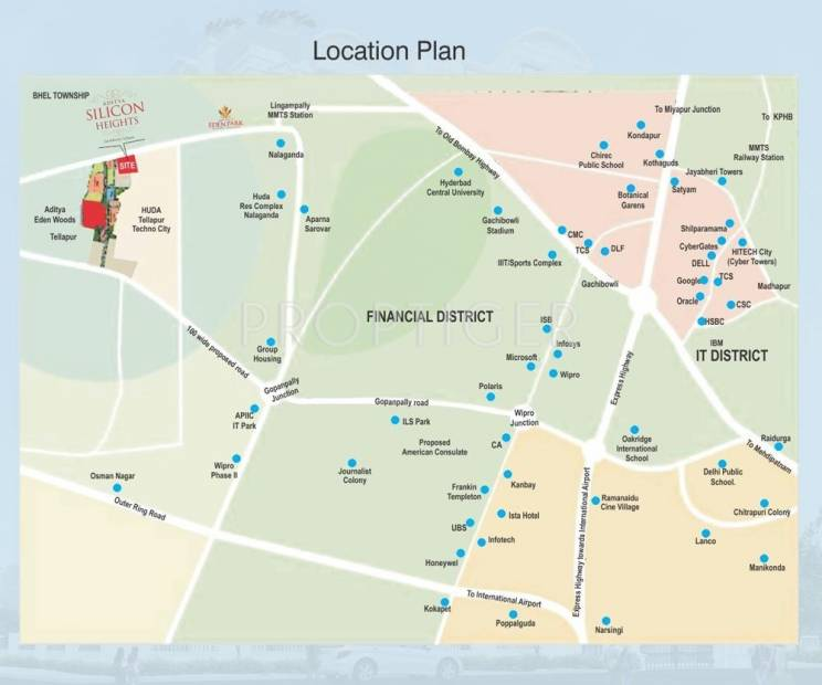 Images for Location Plan of Aditya Silicon Heights