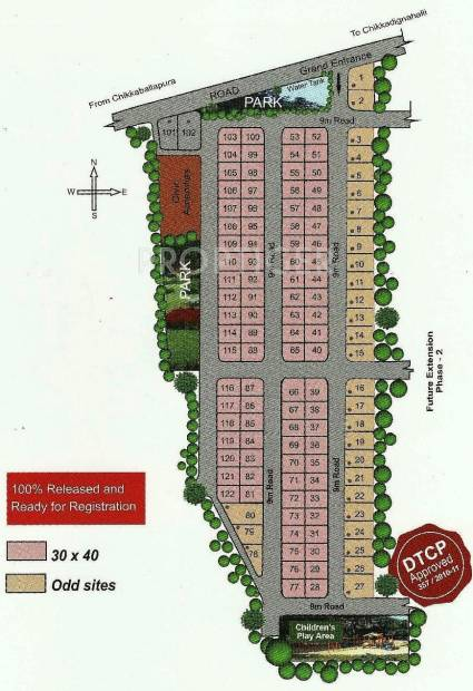 Images for Site Plan of Reputed Builder SIR M Vishweshwaraiah Layout