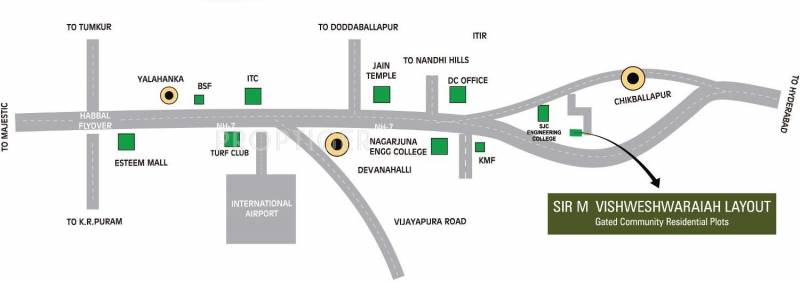 Images for Location Plan of Reputed Builder SIR M Vishweshwaraiah Layout