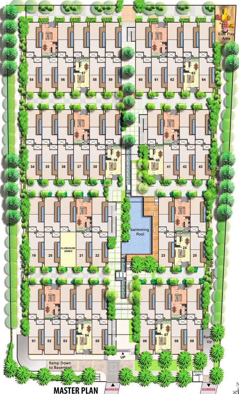 1753 sq ft 3 bhk 3t villa for sale in citrus zen garden for Zen garden designs plan