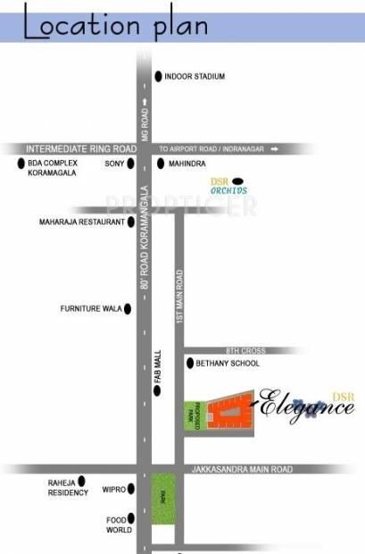 elegance Images for Location Plan of DSR Infrastructures Elegance