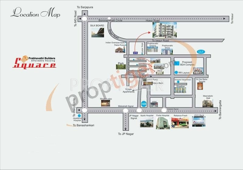 square Images for Location Plan of Prabhavathi Square