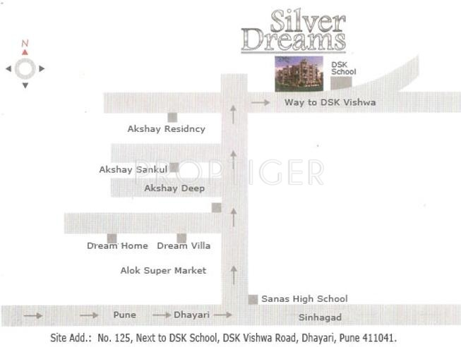Images for Location Plan of Akshay Silver Dreams