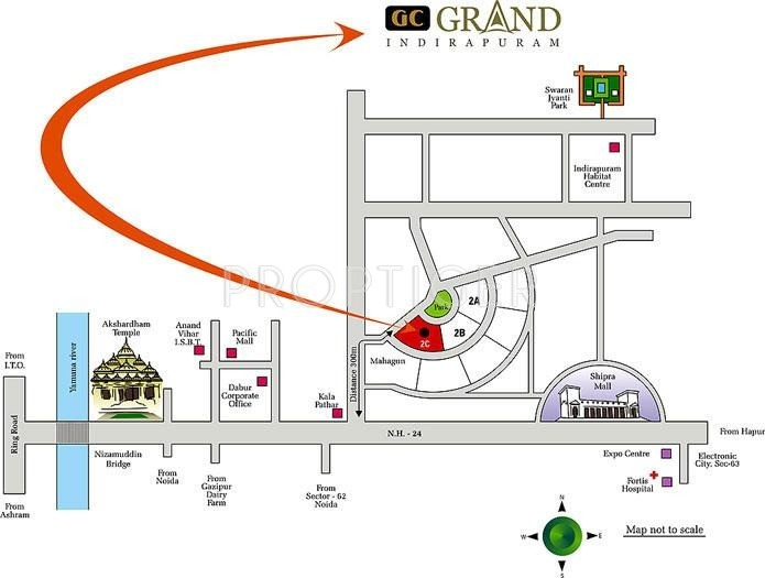 grand Images for Location Plan of Gulshan Homz Grand
