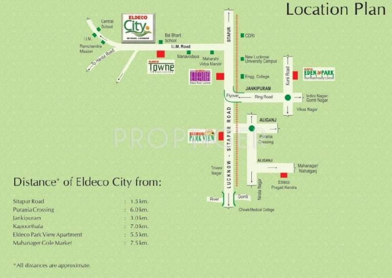 city Images for Location Plan of Eldeco City