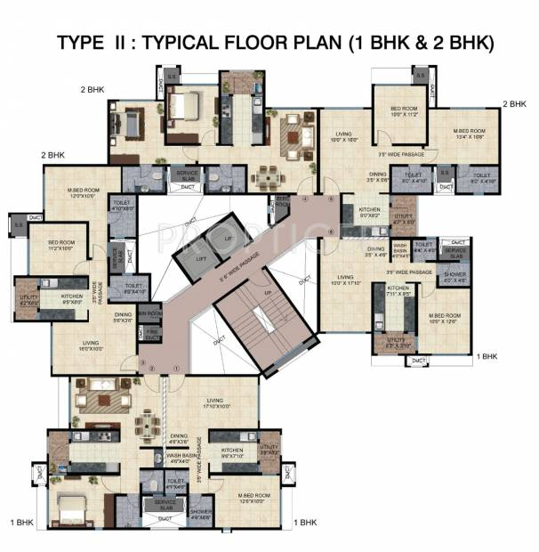 Images for Cluster Plan of Mahindra Bloomdale Apartment
