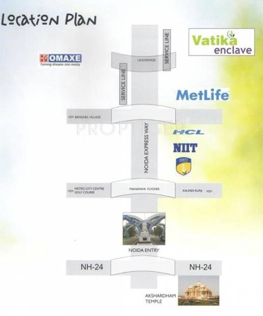 Images for Location Plan of United Vatika Enclave AB
