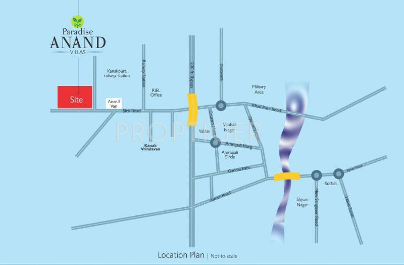 paradise-anand Images for Location Plan of Paradise Paradise Anand