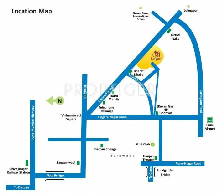 Sharda Group Shree Nagari Location Plan