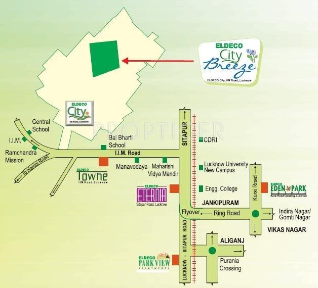 city-breeze Images for Location Plan of Eldeco City Breeze