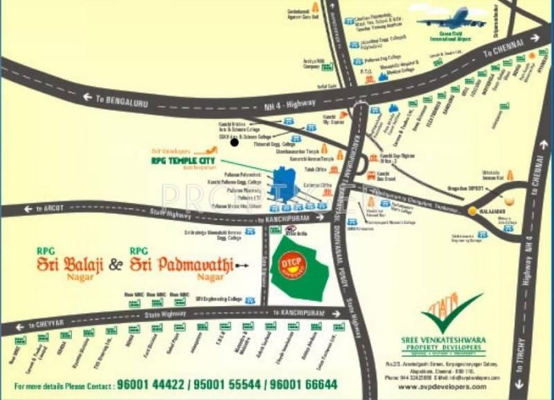 SVP Developers RPG Sri Balaji Location Plan