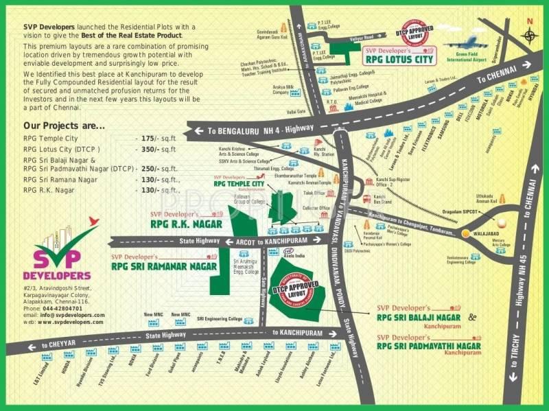 SVP Developers RPG Sri Ramanar Nagar Location Plan