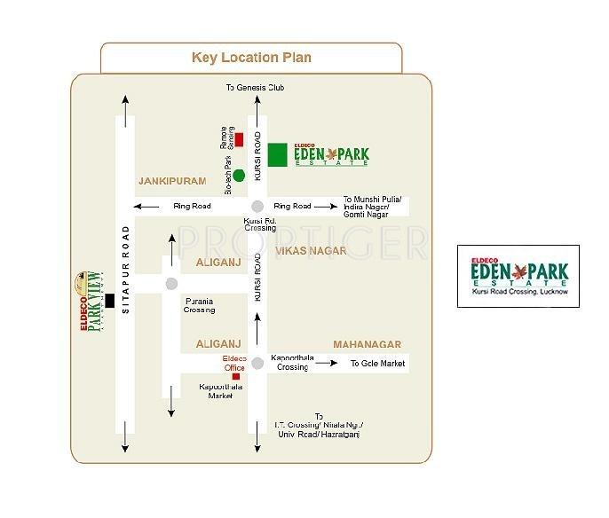 Images for Location Plan of Eldeco Eden Park Estate