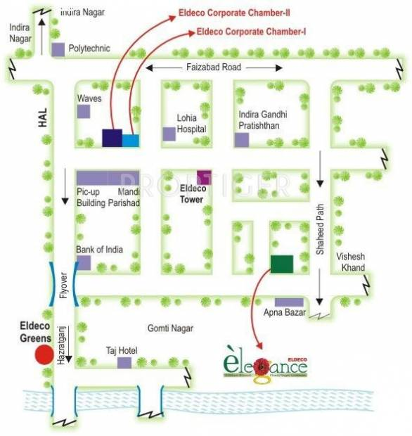 Images for Location Plan of Eldeco Elegance