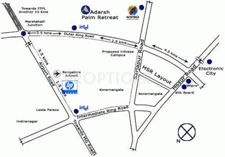 Images for Location Plan of Adarsh Developers Palm Retreat Tower 1