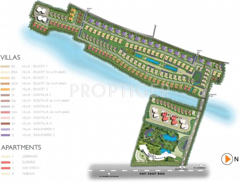 Images for Site Plan of Olympia Reflection Sky Homes
