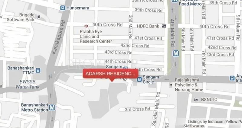 residency Images for Location Plan of Adarsh Developers Residency