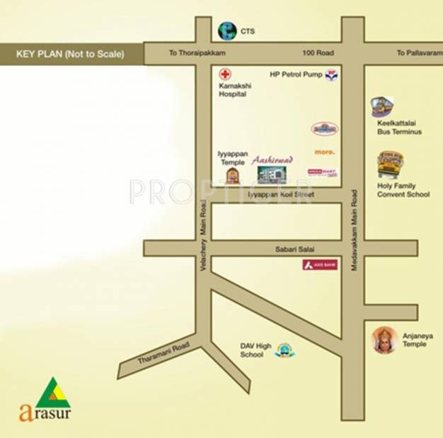 Arasur Builders Aashirwad Location Plan